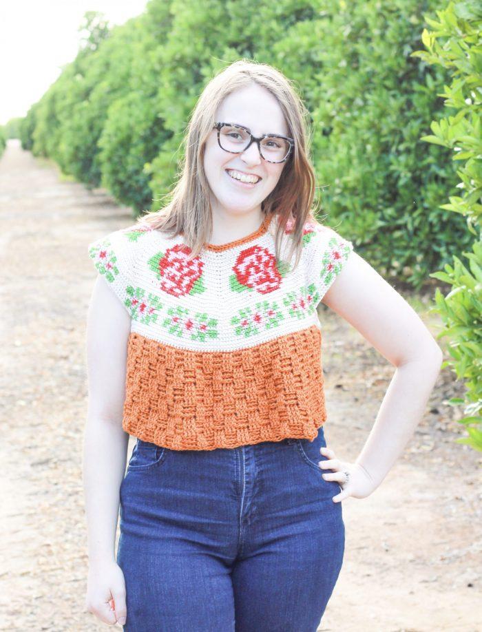 Rose Garden Tee: Tapestry Crochet Top Pattern