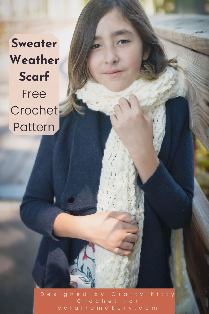 Sweater Weather Scarf: Free Crochet Scarf Pattern
