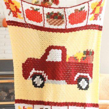 Free Pumpkin Patch C2C Crochet Blanket Crochet Along