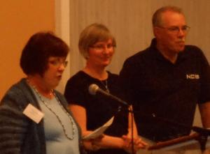 Mystery Dinner Ceil Carey, Co-President Diane and Dave Munson