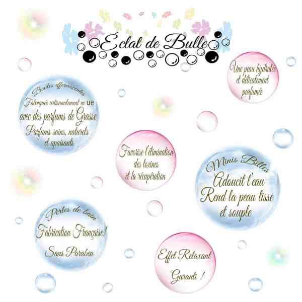 boules de bain effervescentes -Éclat de bulle