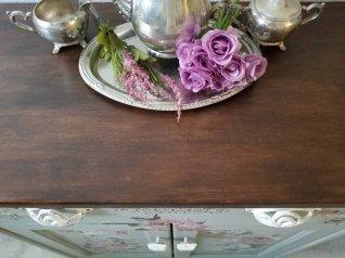 floral-kitchen-cart-island-beverage-station-eclatdeignsbycrystin-3