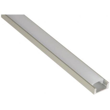 aluminium led profile for led strips slim 2m eclats antivols