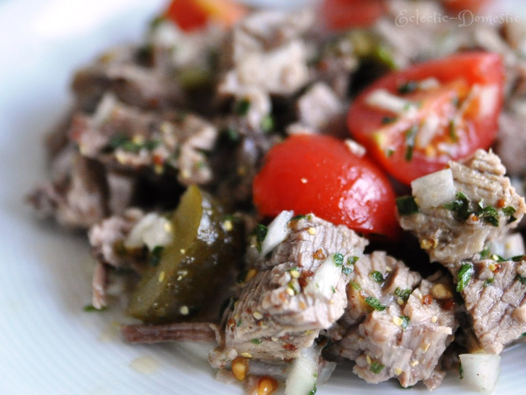 Swiss cold beef salad