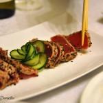 Lemon pepper seared tuna sashimi