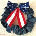 Patriotic 4th of July denim wreath