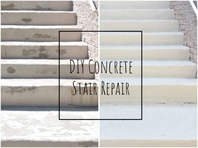 Fixing Front Steps Part II: Sanding, Concrete Repair and Textured