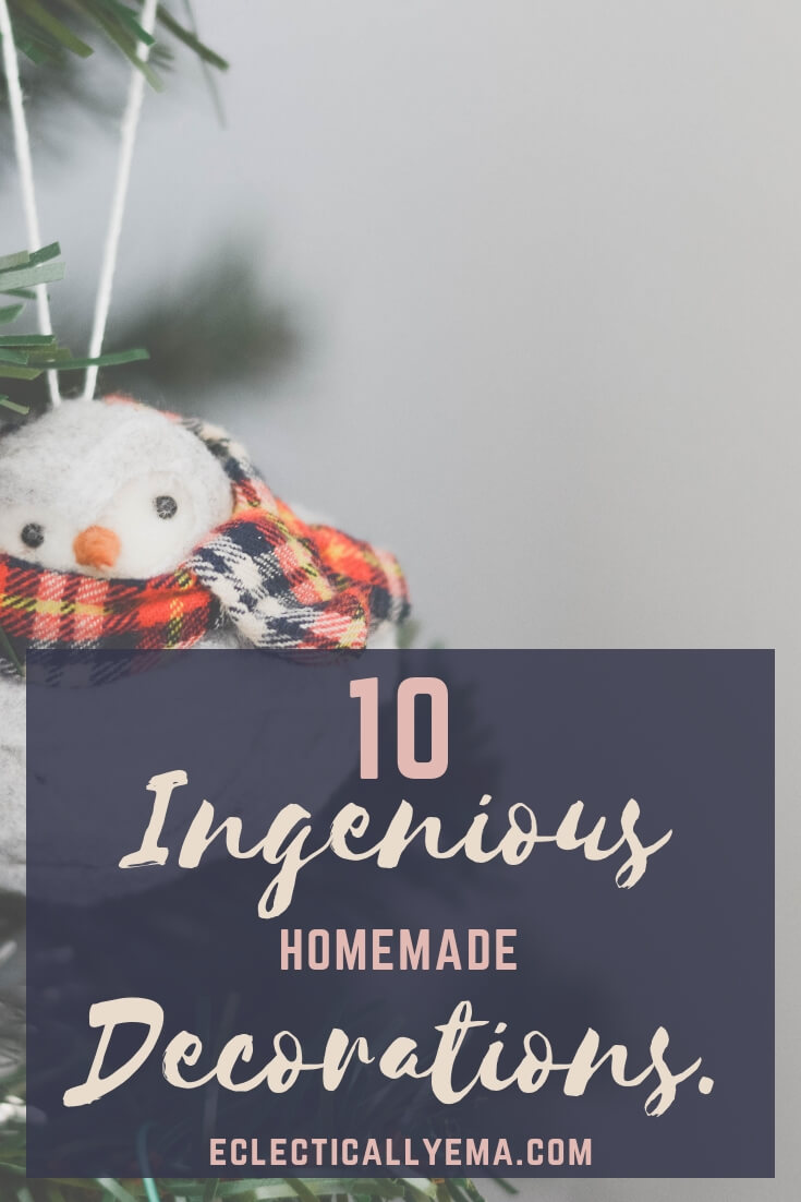 10 Easy Homemade Christmas Decoration Ideas your kids can