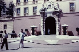 Dad outside Palais du Prince at Monaco-Ville
