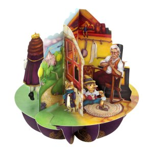 Santoro London - Aladdin, Puss In Boots, And Pinocchio - 3D Pop-up Pirouette