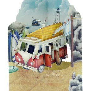 Santoro London Camping Van - 3D Pop-Up Swing Card