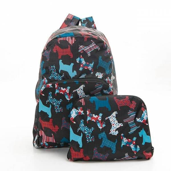 Floral Scotty DogFoldable Backpack