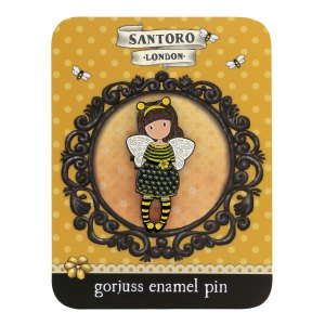 Gorjuss Enamel Pin Bee-Loved (Just Bee-Cause)