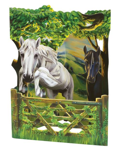 Santoro Jumping Horse – 3D Pop-Up Swing Card