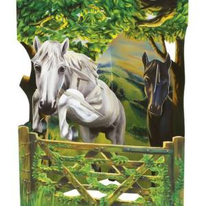 Santoro London Jumping Horse - 3D Pop-Up Swing Card