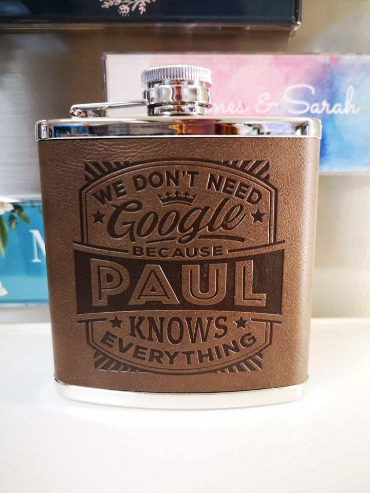 Top Bloke Hip Flask – Paul