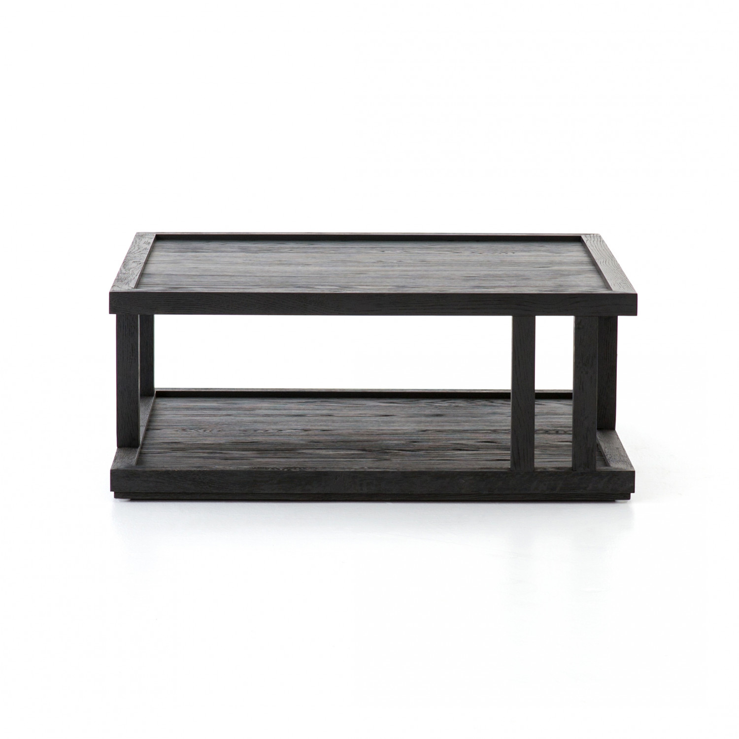 drifted black oak coffee table