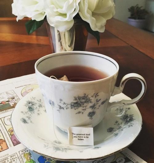 My morning tea instead of coffee