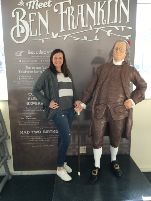 Ben Franklin and I in Philly!