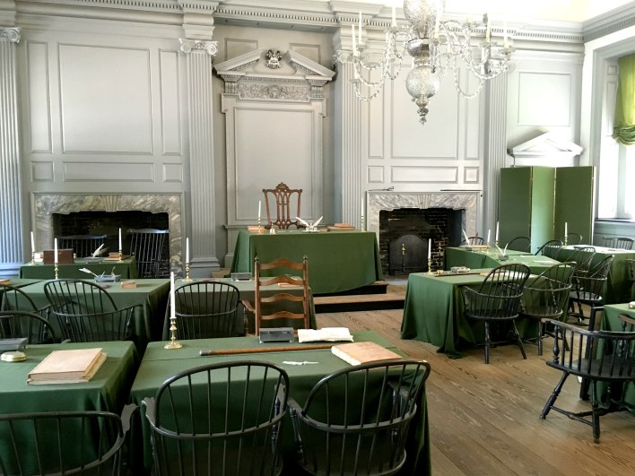 The site that the Declaration of Independence and Constitution were written.