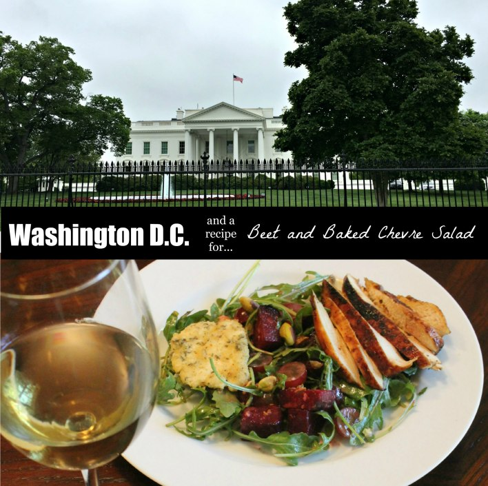 washington dc beet and baked chevre salad