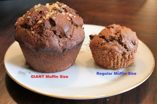 Giant Double Chocolate Chip Muffins