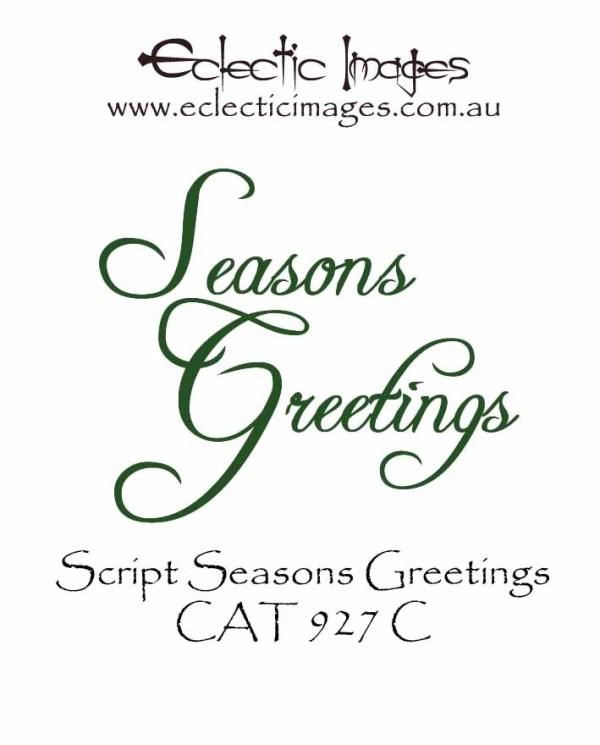 Seasons Greetings Script