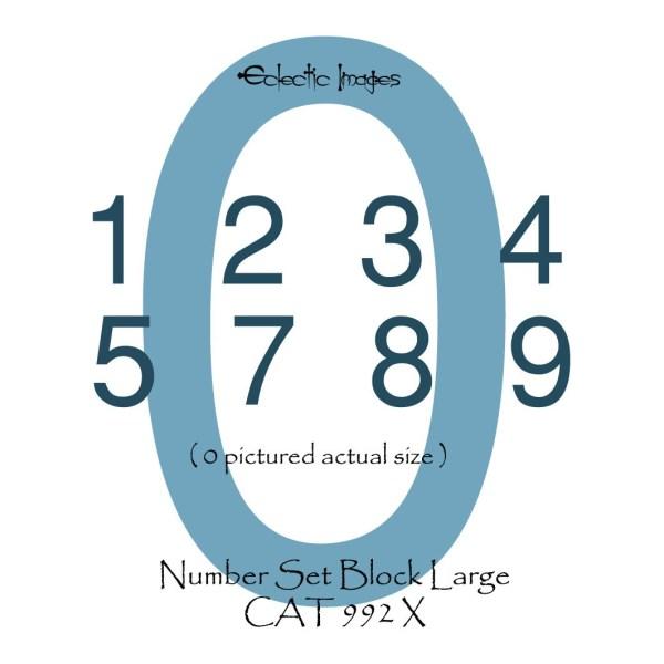 Number Set Block Lg in storage tin
