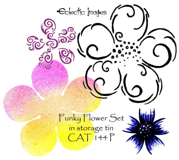Funky Flower Set in storage tin