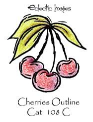 Cherries Outline
