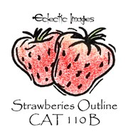 Strawberries Outline