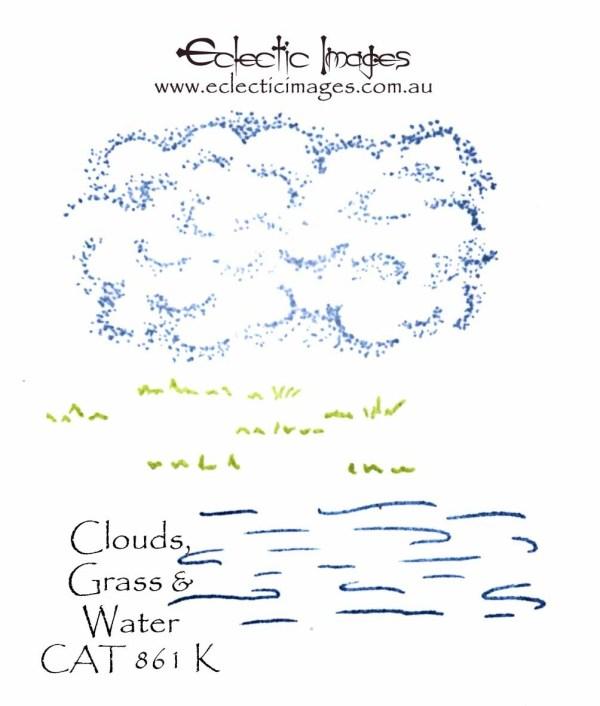 Clouds, Grass & Water