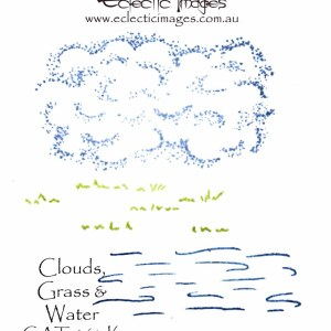 Clouds, Grass & Water