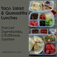 Taco Salad and Quesadilla Lunches