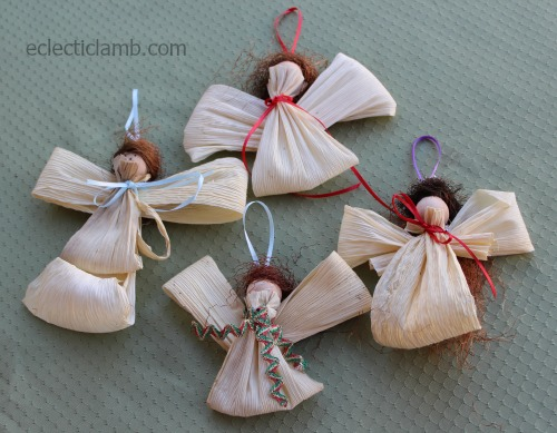 Corn Husk Angel Tutorial Food And Crafts Eclectic Lamb