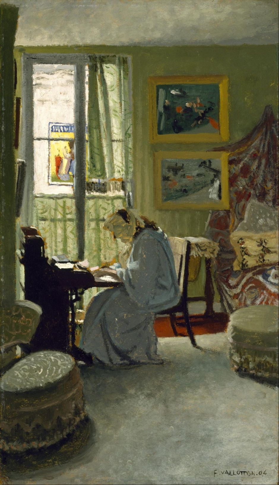 Paintings Of Flix Vallotton 2 Mysterious Interiors The Eclectic Light Company