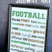 Football Subway Art {printable}