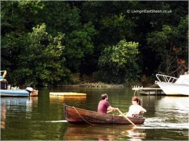 Romantic rowing boat