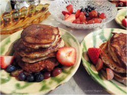 Fruity Panettone Pancakes