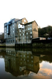 Reflections on the River Avon Bath England