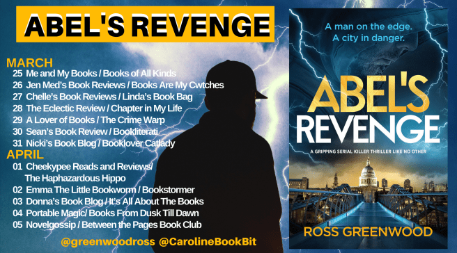 Blog Tour Poster Abel's Revenge - Ross Greenwood