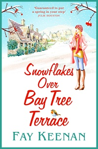 Snowflakes Over Bay Tree Terrace by Fay Keenan
