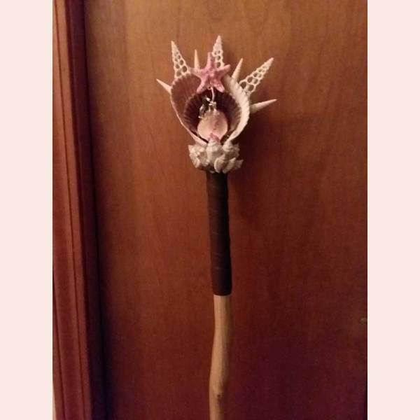 Sea-themed hiking stick topper by Candy's Creations 4 U