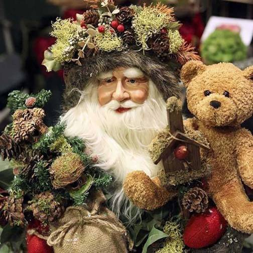 Father Christmas doll with presents by Whispers from the Past