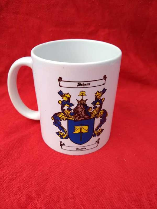 Family crest mug by James Rea - Ancestorian