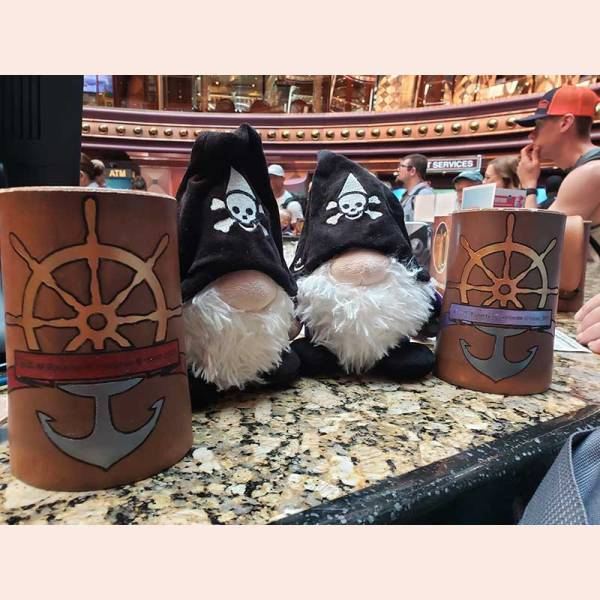 Piratey Flagons by D&U Leather Mugs