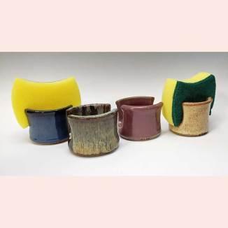 Sponge holders by Prancing Pony Pottery