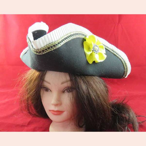 Pirate Hat by Majestic Pearl Historical Attire