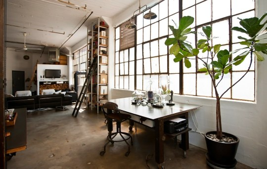 loft Brooklyn home office