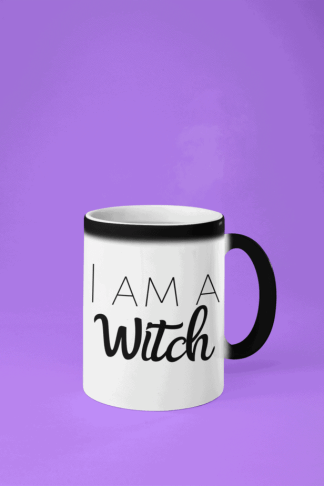 Are you a witch? This cool color changing coffee mug will help you tell the whole world. Show off your knowledge of witchcraft, paganism, Wicca, and the occult! Drinking coffee from this mug is like magick as you watch the heat change the color and reveal the message on the mug. #witch #magick #witchcraft #fantasy #witch #witchcraft #blessedbe #wicca #wiccan #pagan #pentacle #pentagram